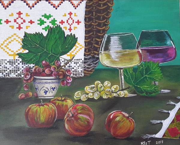 Moldova Wall Art - Painting - Traditional Holiday by Natalia NSTT