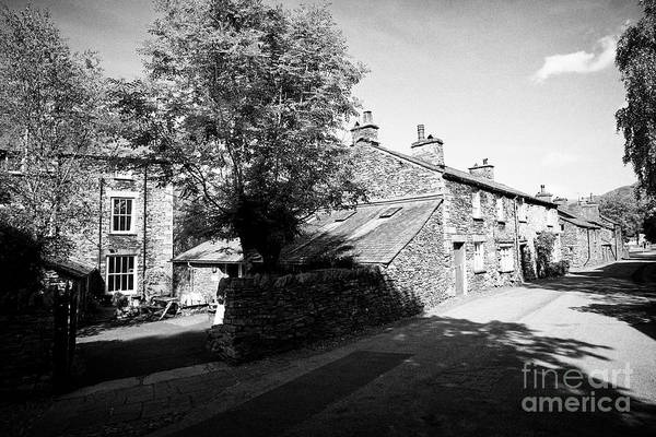 Grasmere Wall Art - Photograph - Traditional Lake Stone Slate Built Cottages In The Hamlet Of Town End Near Grasmere Lake District Cu by Joe Fox