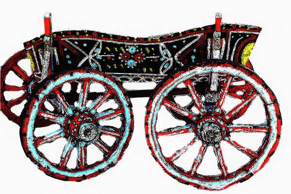 Photograph - Traditional Painted Donkey Cart  by Cliff Norton