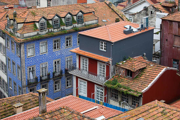 Tenement Photograph - Traditional Portuguese Houses In Porto by Artur Bogacki
