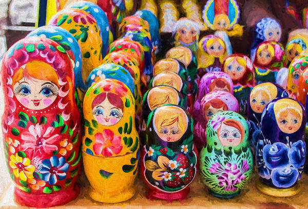 Photograph - Traditional Russian Matrushka Nesting Puzzle Dolls by John Williams