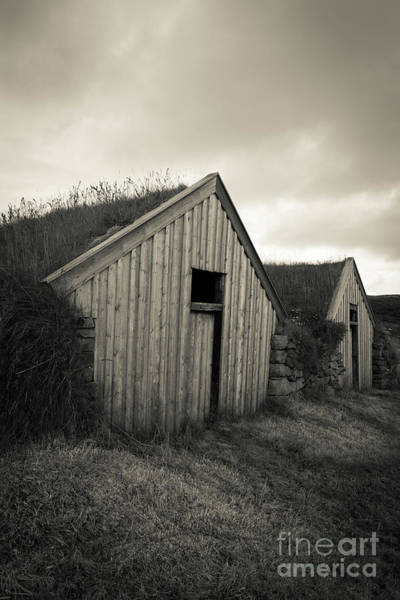 Photograph - Traditional Turf Or Sod Barns Iceland by Edward Fielding