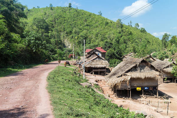 Photograph - Traditional Village In Laos by Didier Marti