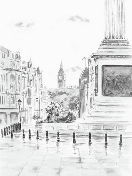 Digital Art - Trafalgar Square II by Elizabeth Lock