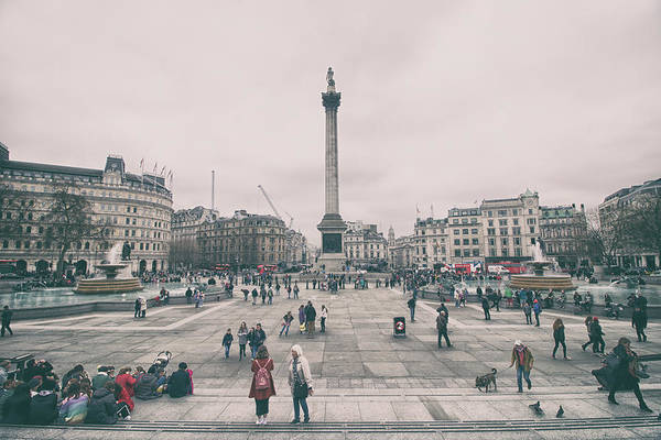 Square Tower Photograph - Trafalgar Square by Martin Newman