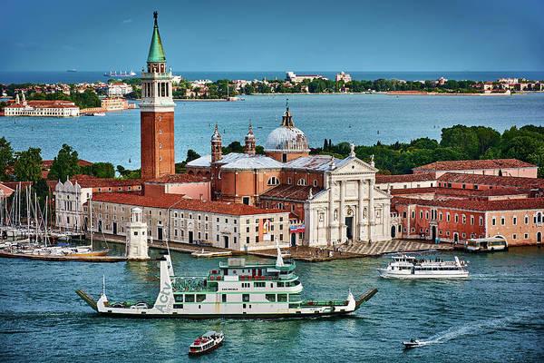 Photograph - Boats And Ships Around San Giorgio Di Maggiore In Venice, Italy by Fine Art Photography Prints By Eduardo Accorinti