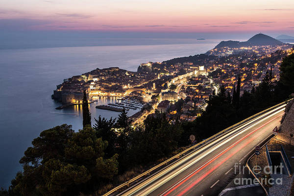Photograph - Traffic At Night In Dubrovnik by Didier Marti