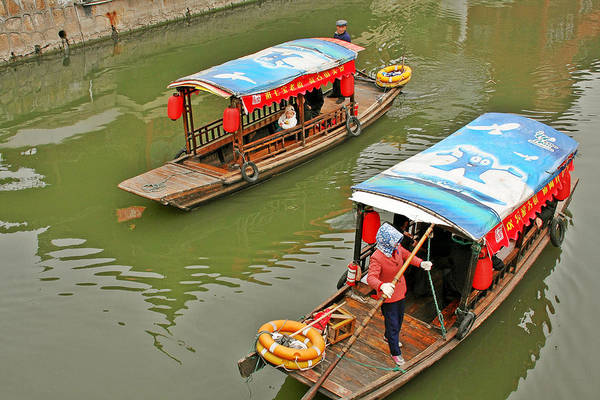 Photograph - Traffic In Qibao - Shanghai's Local Ancient Water Town by Christine Till