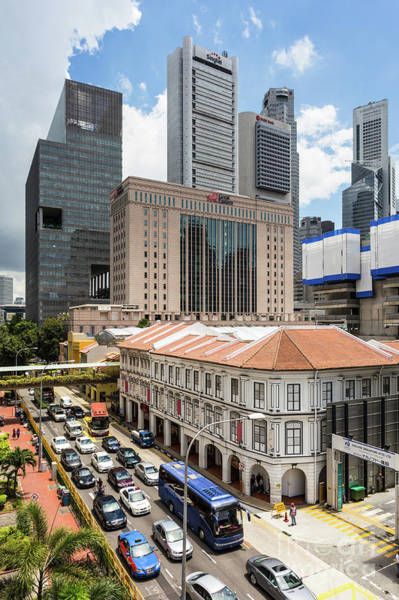 Photograph - Traffic In Singapore Chinatown by Didier Marti