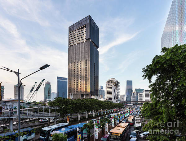 Photograph - Traffic Jam In Jakarta Business District, Indonesia Capital City by Didier Marti