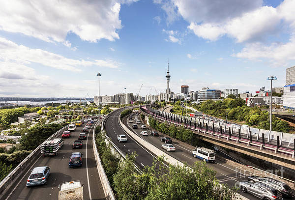 Photograph - Traffic Jam On Auckland Highways In New Zealand by Didier Marti
