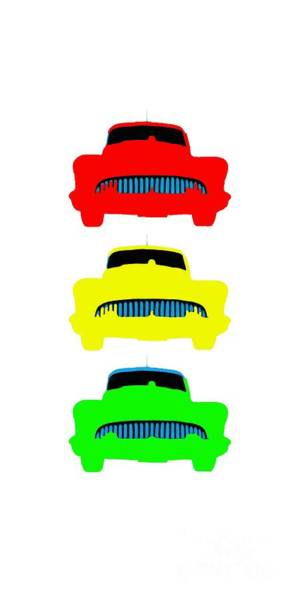 Wall Art - Painting - Traffic Light Cars Phone Case by Edward Fielding