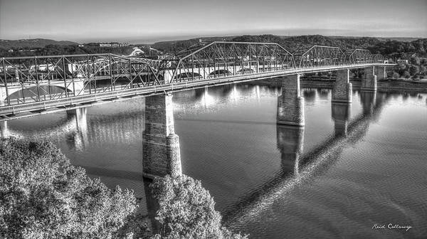 Camelback Mountain Photograph - Traffic Reflections The Bridges Of Chattanooga Tennessee Art by Reid Callaway