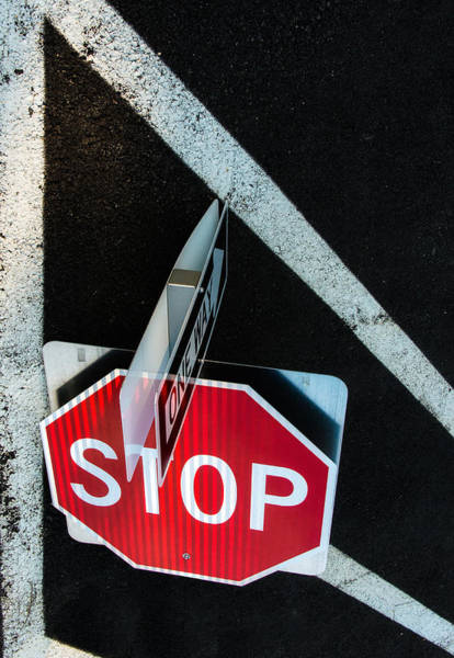 Photograph - Traffic Signs And Lines Together by Gary Slawsky