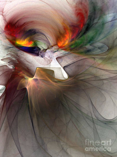Passionate Digital Art - Tragedy Abstract Art by Karin Kuhlmann