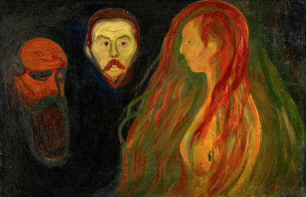 Tragedy Painting - Tragedy by Edvard Munch