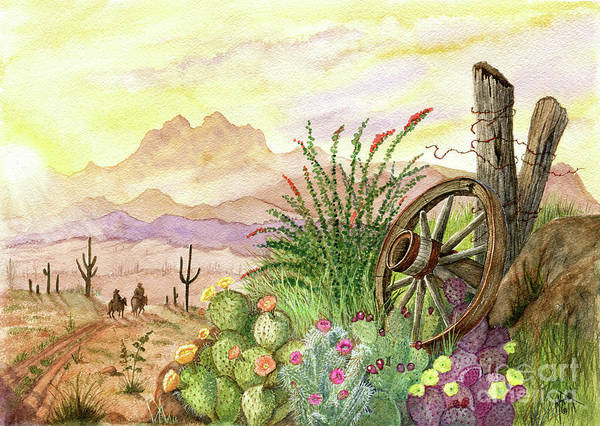 Smith Rock Painting - Trail At Sunrise by Marilyn Smith