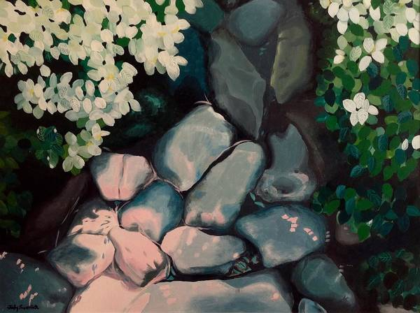 Wall Art - Painting - Trail Of Rocks by Judy Swerlick
