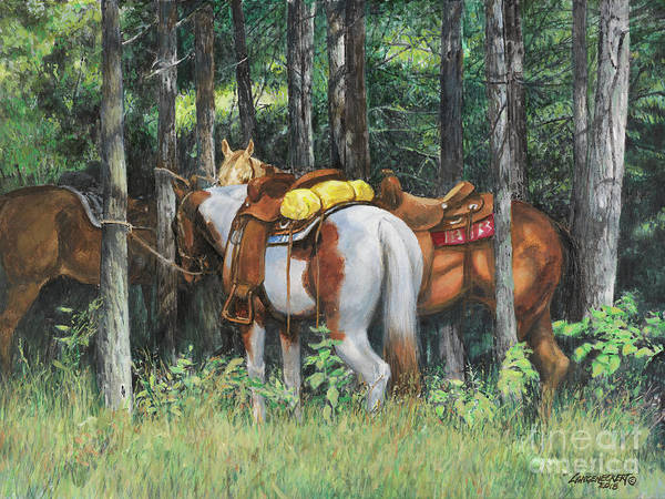 Wall Art - Painting - Rest Stop by Don Langeneckert