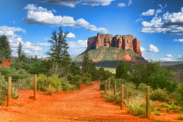 Photograph - Trail To Courthouse Butte by Ola Allen