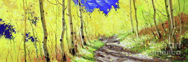 Wall Art - Painting - Trail To Maroon Bells by Gary Kim