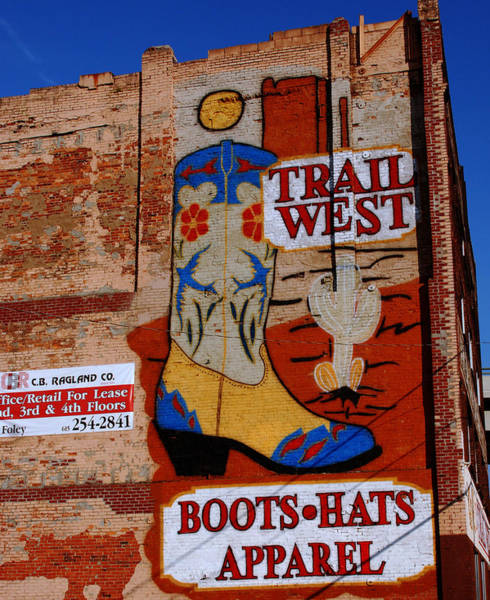 Photograph - Trail West Mural by Susanne Van Hulst