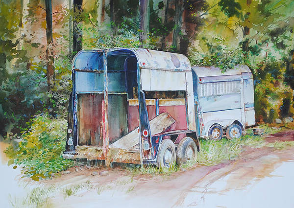 Painting - Trailer Trash by P Anthony Visco