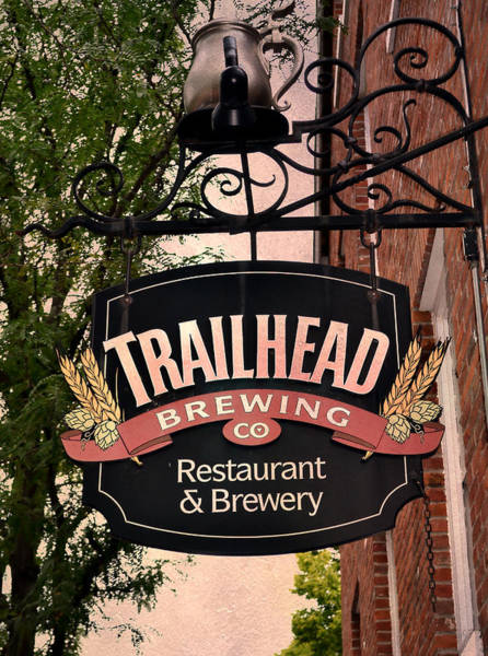 Branding Iron Photograph - Trailhead Brewing Company by Deena Stoddard