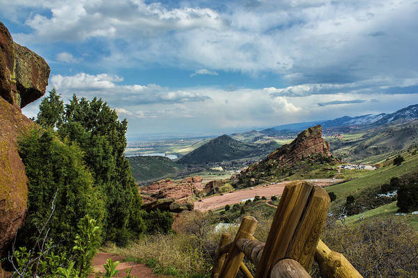 Trails At Red Rocks Art Print