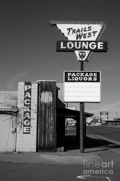 Wall Art - Photograph - Trails West Route 66 In Black And White by Twenty Two North Photography
