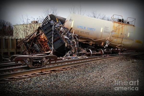 Train Derailment Photograph - Train Accident  by Paul Ward