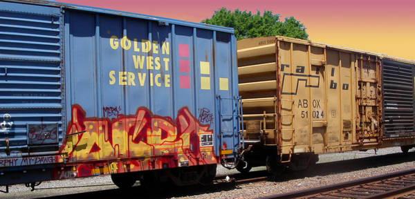 Photograph - Train Aglow by Anne Cameron Cutri