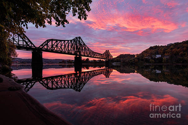 Rochester Photograph - Train Bridge At Sunrise  by Emmanuel Panagiotakis