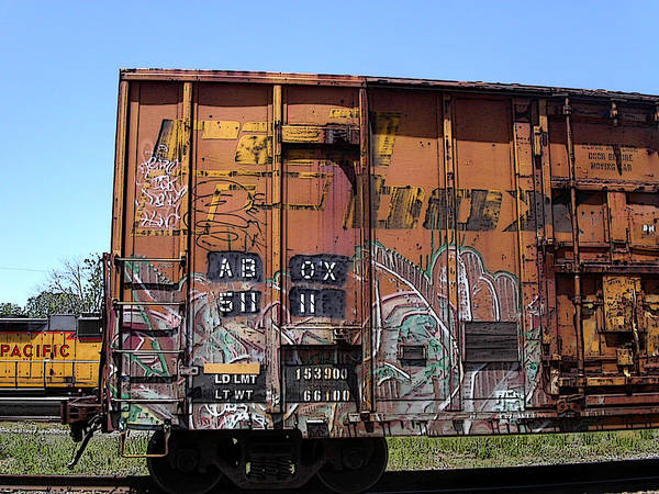 Photograph - Train Car Graffiti 1 by Anne Cameron Cutri