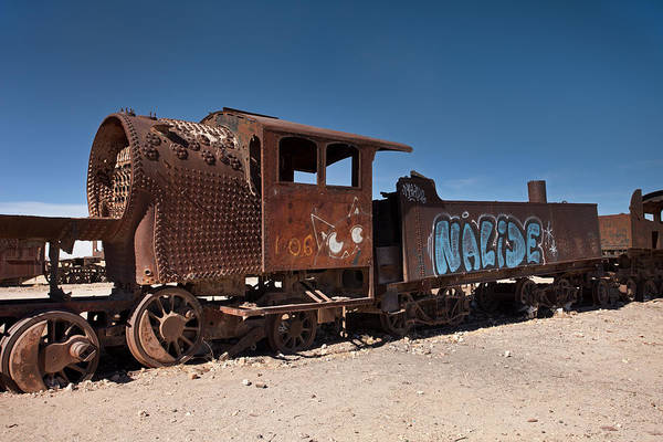 Photograph - Train Cemetery In Uyuni by Aivar Mikko