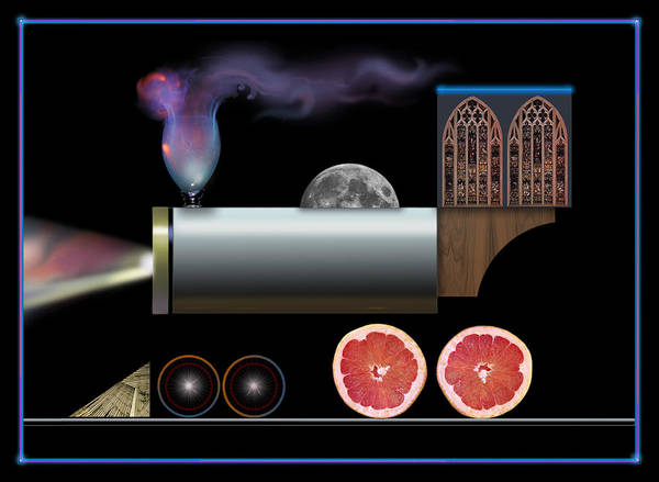 Digital Art - Train Collage by John Norman Stewart