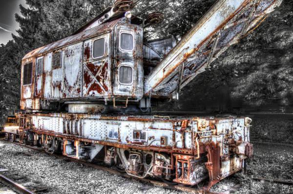 Photograph - Train Crane 2 by John Meader