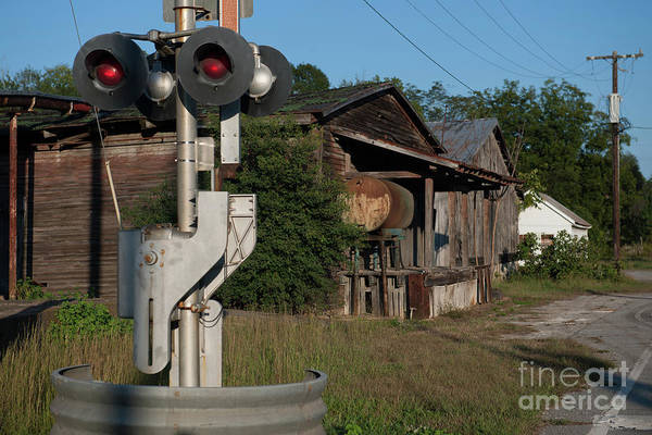 Photograph - Train Crossing Light by Dale Powell