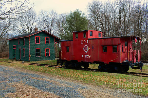 Wall Art - Photograph - Train - Erie Rr Line Caboose by Paul Ward