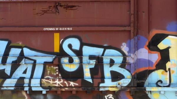 Photograph - Train Graffiti 4 by Anita Burgermeister