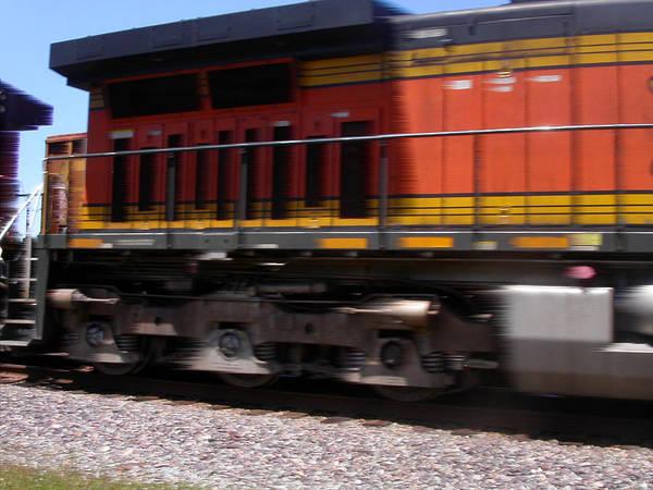 Photograph - Train In Motion by Anne Cameron Cutri