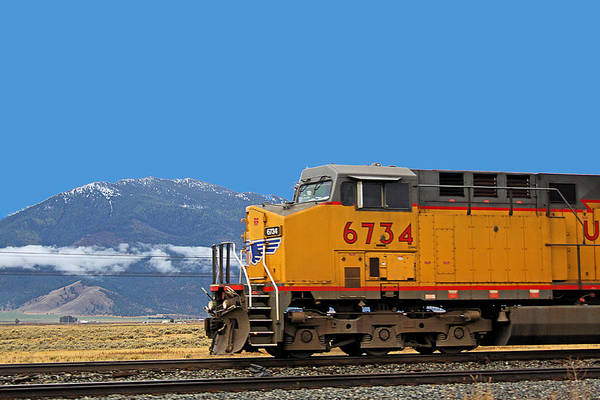 Photograph - Train In Oregon by Dart and Suze Humeston