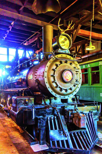 Roundhouse Photograph - Train No 3 With Deer Antlers by Garry Gay