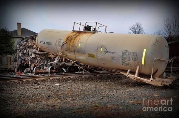 Train Derailment Photograph - Train Off The Tracks  by Paul Ward