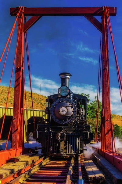 Wall Art - Photograph - Train On Red Turntable by Garry Gay