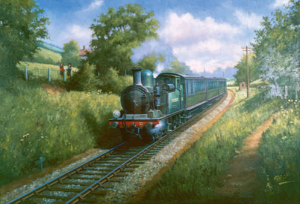 Wall Art - Painting - Train On The Isle Of Wright. by Mike Jeffries