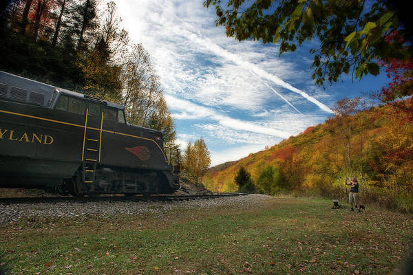 Photograph - Train On The Tracks In The Mountains During Fall Season by Dan Friend