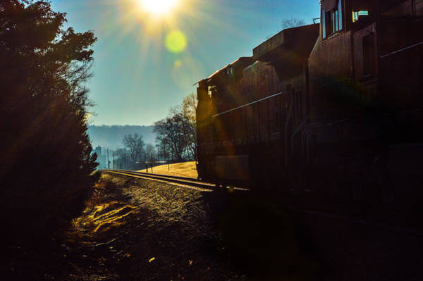 Photograph - Train On Track In Birmingham Alabama by Michael Thomas