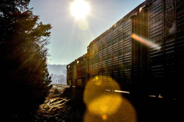 Photograph - Train On Track V2 In Birmingham Alabama by Michael Thomas