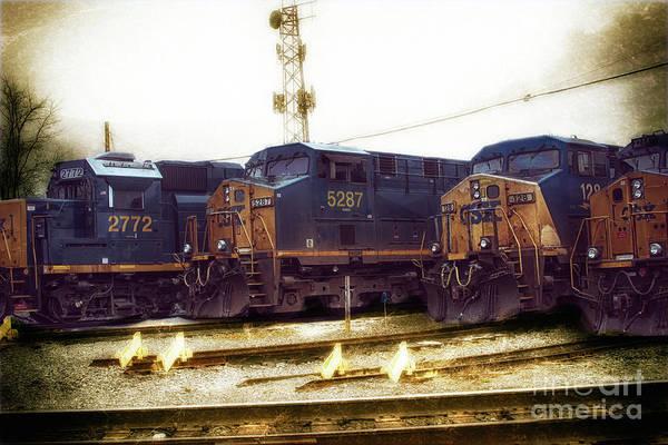 Wall Art - Photograph - Train Park  by Steven Digman
